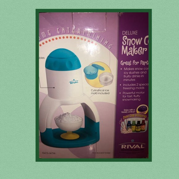 Deluxe Snow Cone Maker by Rival.